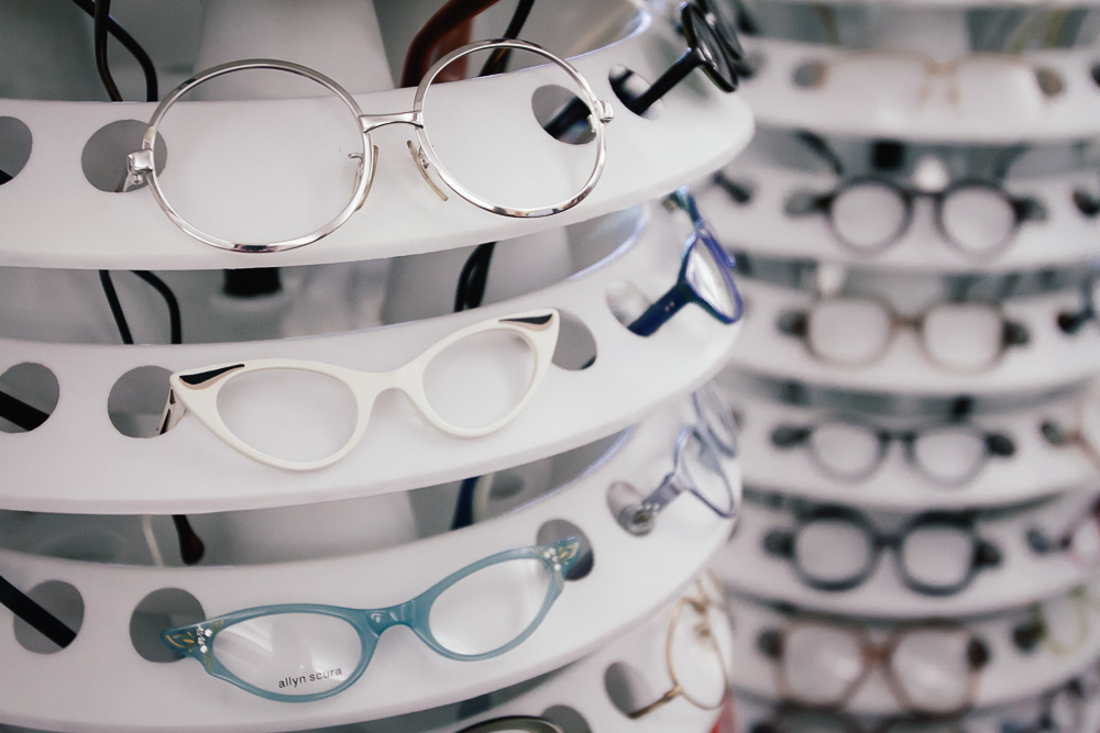 Vintage Clothing and Textile Show - eyeglasses