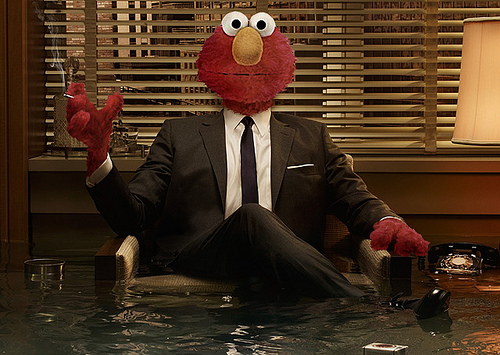 Elmo as Don Draper
