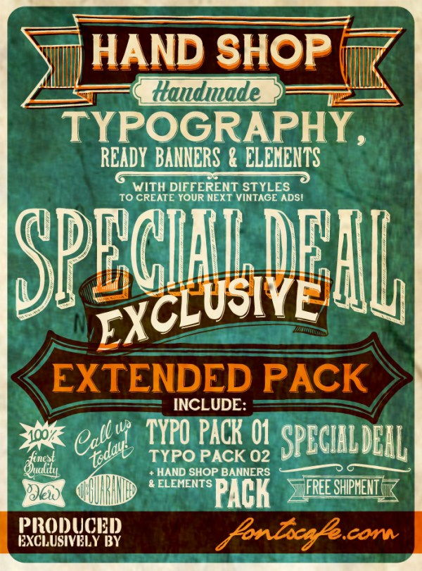 vintage fonts - Hand Shop Typography C30