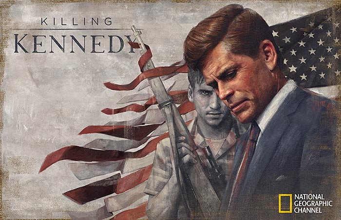 Killing Kennedy painting by Sam Spratt