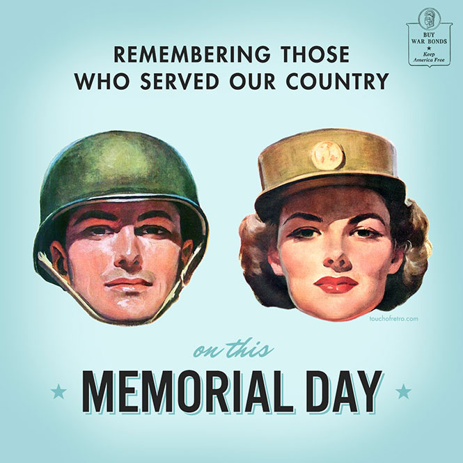 Memorial Day - Touch of Retro