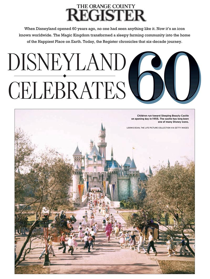 Orange County Register - Disneyland celebrates 60