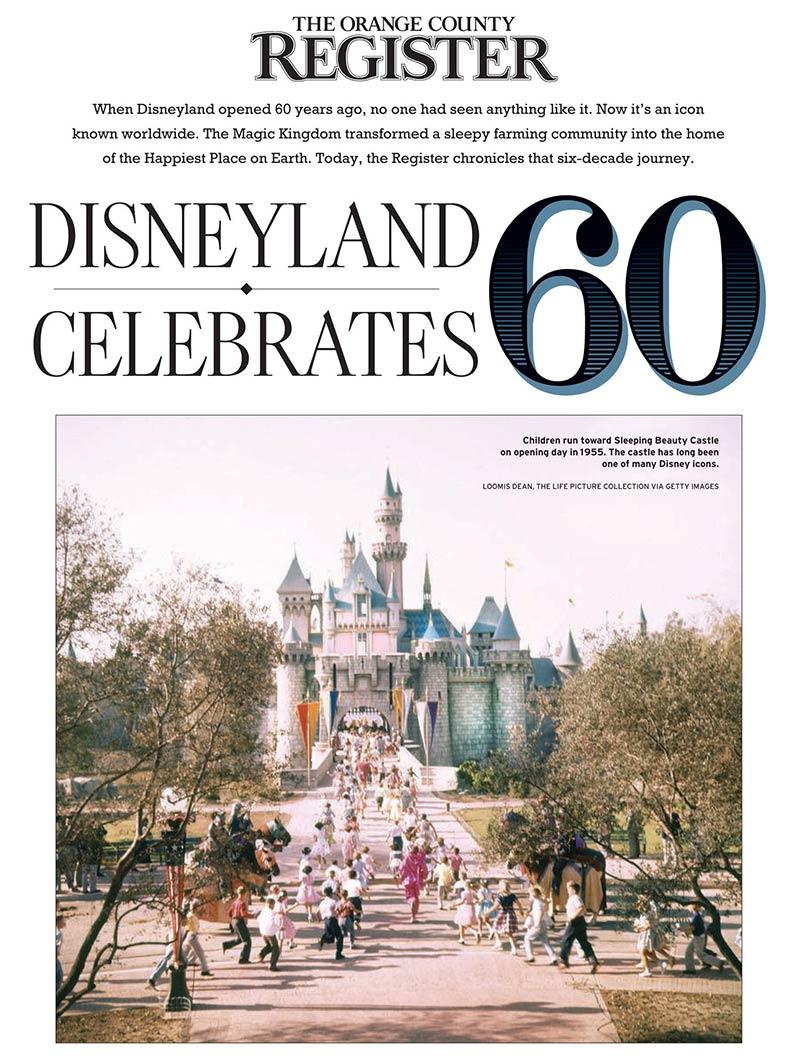 Orange County Register - Disneyland celebrates 60